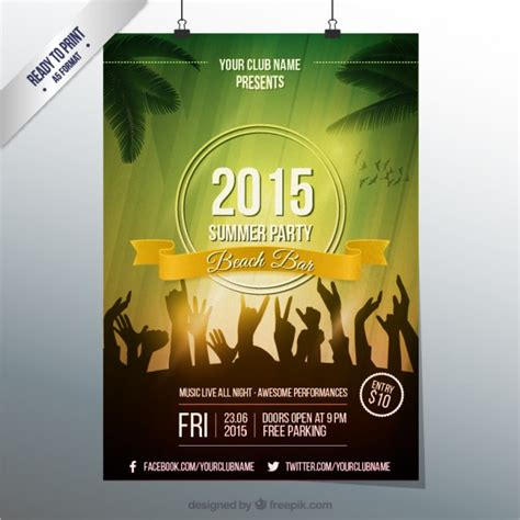 summer party poster template vector