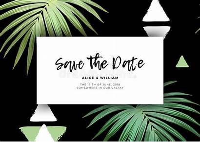 Hawaiian Invitation Floral Triangles Textured Exotic Palm
