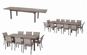Table De Jardin Extensible 12 Places : table extensible aluminium hesperide piazza 10 112 places ~ Edinachiropracticcenter.com Idées de Décoration