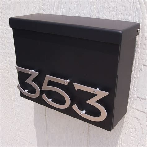 Custom Victorian Floating House Number Mailbox No. 1310 in