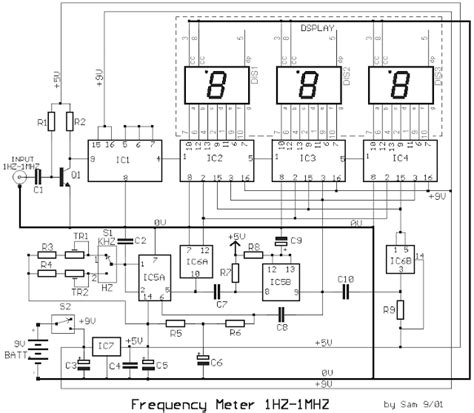 Mhz Frequency Meter With Digital Display Circuit