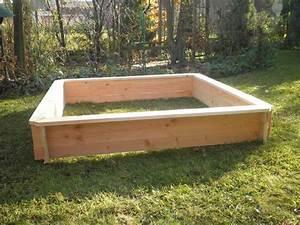 Potager En Bac : bac potager carr cm 150x150 en bois montage par ~ Preciouscoupons.com Idées de Décoration