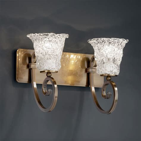veneto luce two light antique brass bath fixture