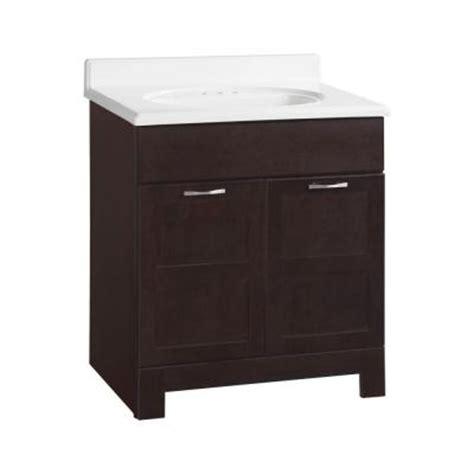 Glacier Bay Bathroom Cabinets Java by Glacier Bay Casual 30 In W X 21 In D X 33 1 2 In H