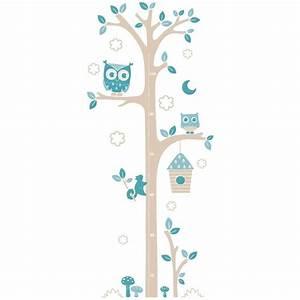 sticker chambre bebe toise chouettes gb chambre bebe With affiche chambre bébé avec tapis de fleurs pour fibromyalgie