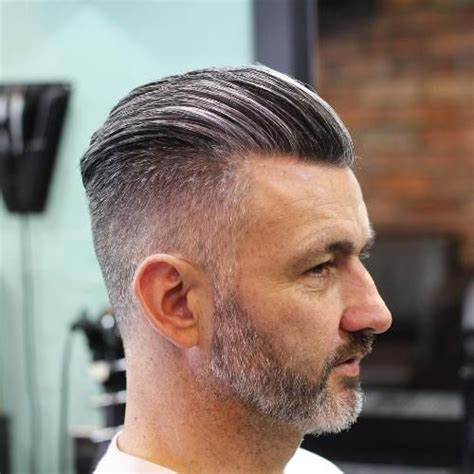 trendy slicked  hair styles grey hairstyle