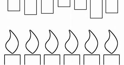 Candles Birthday Printable Coloring Pages Template Candle