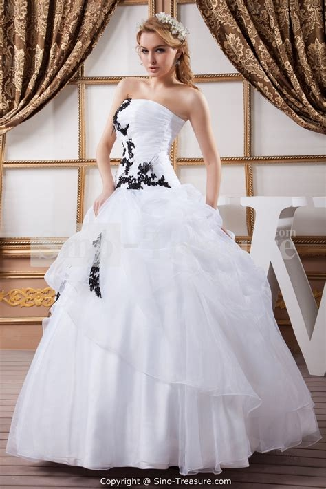 black  white wedding dresses combination fashion