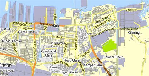 jakarta grande indonesia printable exact vector map