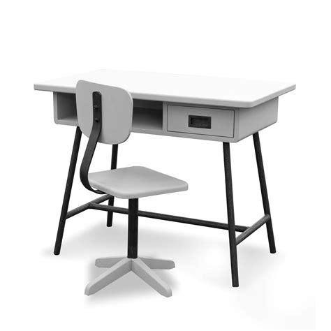 laurette bureau bureau la classe et chaise d 39 atelier gris clair laurette