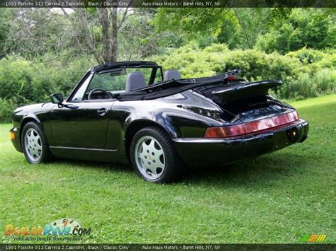 porsche 911 convertible black black 1991 porsche 911 carrera 2 cabriolet photo 6