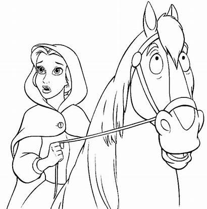 Belle Coloring Disney Princess Pages Colouring Princesses