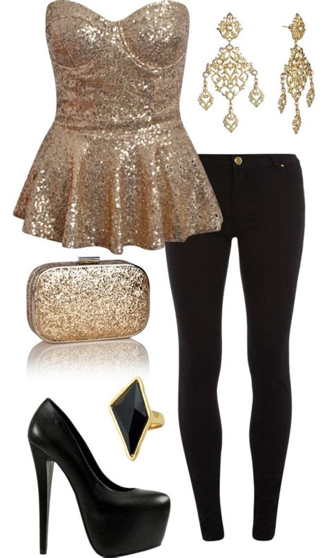 Best 25+ Gold outfit ideas on Pinterest   Glitter dress Ladies night outfit and Gold party dress