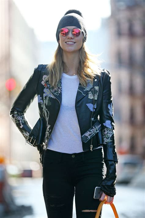 Karlie Kloss Street Fashion Out Nyc