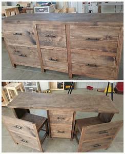 Ana White Hidden Desk - DIY Projects
