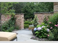 Garden brick wall design ideas landscape traditional with