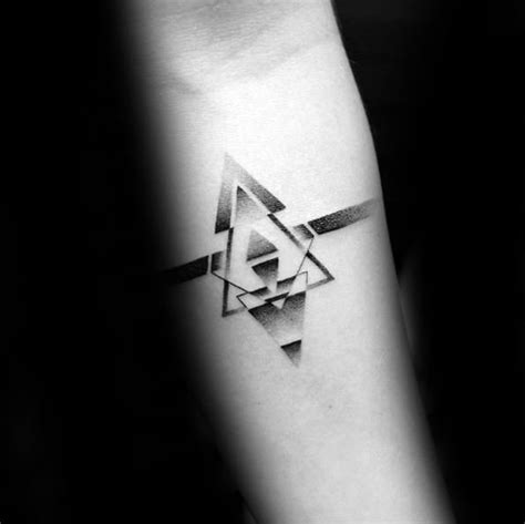 small geometric tattoos  men manly shape ink ideas