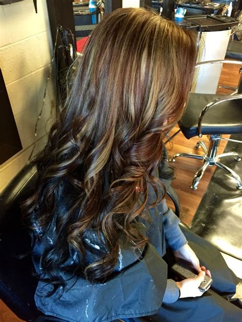 love mocha brown  ash blonde highlights