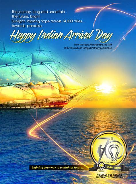 happy indian arrival day trinidad  tobago electricity