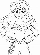 Coloring Hero Printable Woman Wonder January sketch template