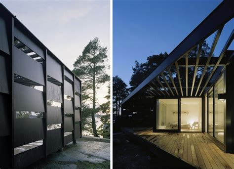 An House In The Woods Flips The Architectural Script by Archipelago House By Tham Videgard 171 Inhabitat Green