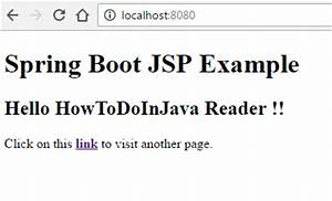 spring boot jsp view example howtodoinjava With spring jsp template