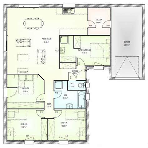 maison plain pied 4 chambres afficher l 39 image d 39 origine plan t3 images plans maison et plans