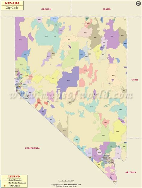 Nevada Zip Codes  Map, List, Counties, And Cities