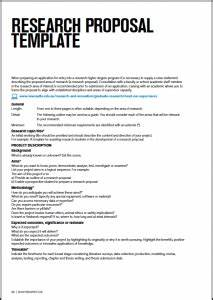 short research proposal template