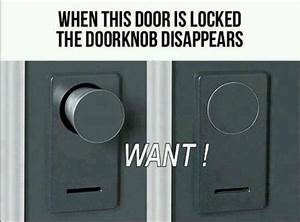 Creative door lock. | Gadgets & Cool Stuff | Pinterest