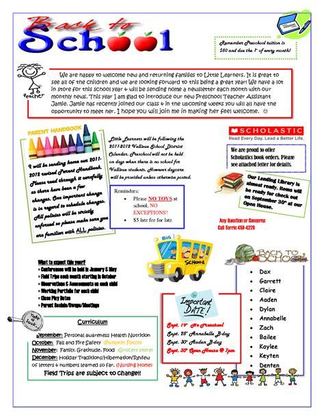 september preschool newsletter template preschool 797 | a82756b9d6cb17091ce7b9c36473b9dc
