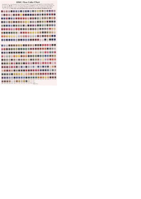 dmc color chart pdf dmc floss color chart printable pdf