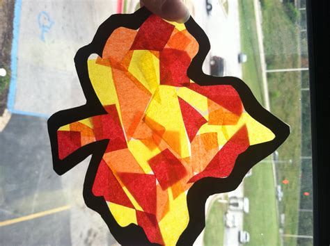 fall crafts for children the potato 595 | leaf