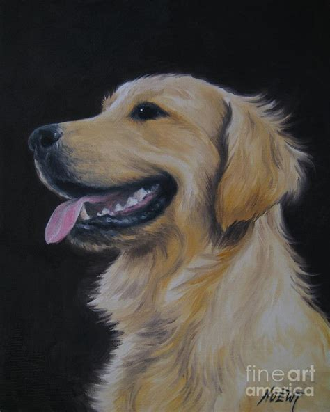 golden retriever nr 3 painting by jindra noewi
