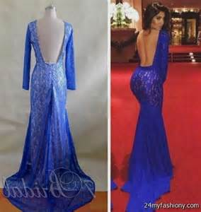 oversized bridesmaid shirts royal blue lace mermaid prom dress 2016 2017 b2b fashion