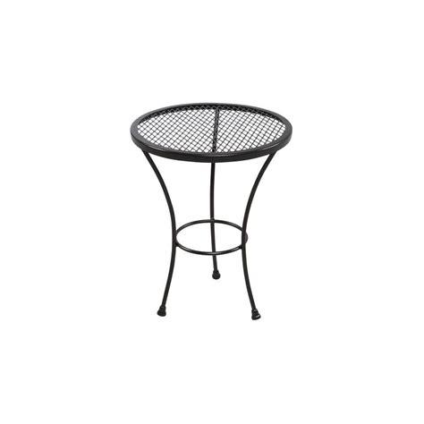 patio side table metal hton bay jackson patio accent table 5055000 0105157
