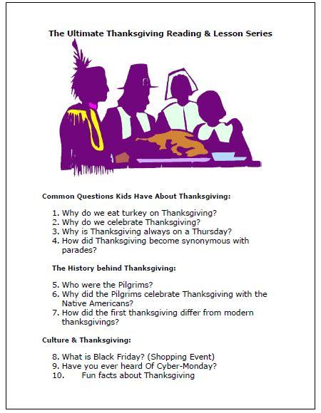 free worksheets 187 thanksgiving comprehension printables