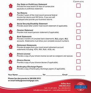 pre approval checklist macomb county and lake saint With documents needed for pre approval for mortgage
