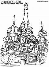 Cathedral Coloring Basil Saint Dome Pages Rock Sketch Template Designlooter Templates Drawings 18kb 1000px sketch template