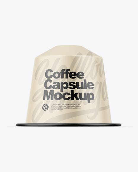 A free falling gravity psd paper coffee cup mockup. Matte Coffee Capsule Mockup in Object Mockups on Yellow ...
