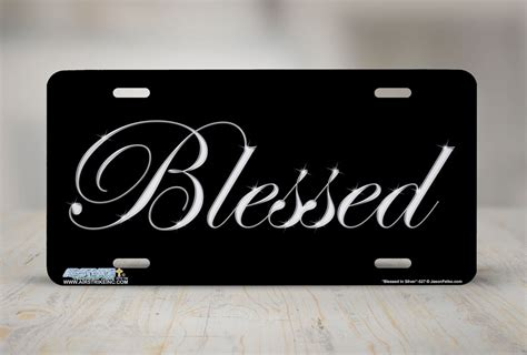 designer license plates blessed front plate christian decorative license plate car