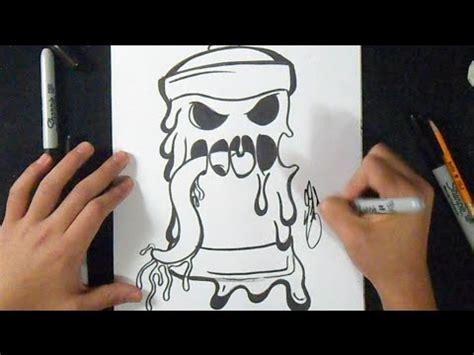 como dibujar lata de spray derretida facil graffiti youtube