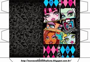 Monster High  Free Printable Boxes