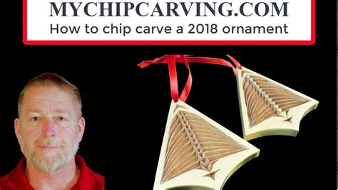 chip carving christmas ornament youtube