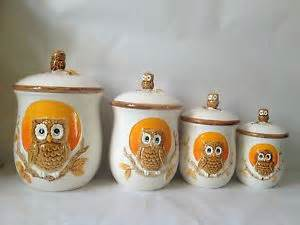 owl kitchen canisters 20 best images about owl kitchen on vintage owl canister sets and dillards
