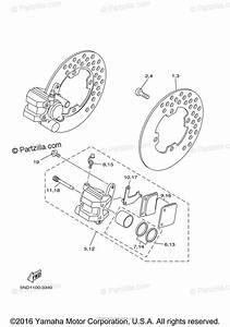 Yamaha Atv 2006 Oem Parts Diagram For Front Brake