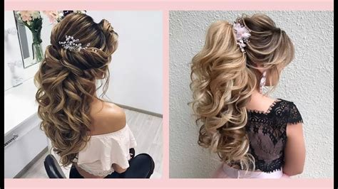 Curly Prom Hairstyles For Medium Long Hair || Curly Or
