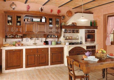 Cucina muratura di castagno
