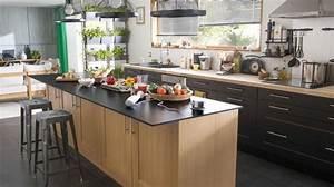 ilot central cuisine ouverte cuisine en image With photo de cuisine ouverte avec ilot central