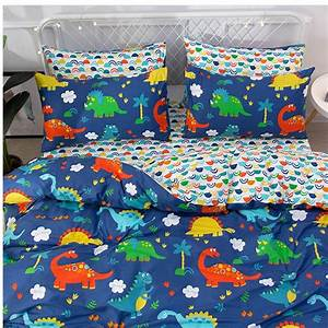 Free, Shipping, Children, Cartoon, Dinosaur, Bedding, Set, Twin